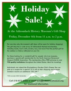 Holiday Sale at the Adirondack History Center Museum's Gift Shop @ Adirondack History Center Museum | Elizabethtown | New York | United States